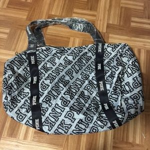 VS PINK UNPACKABLE GREY DUFFEL BAG NWT
